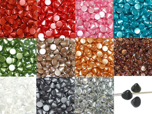 Button Bead Button Beads Glasperlen 4 mm 20 Stück