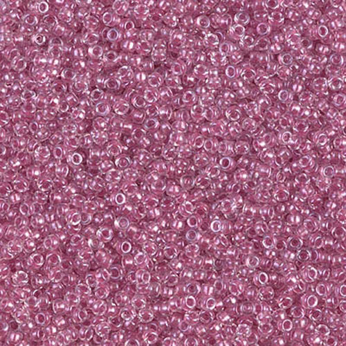 Miyuki Rocailles 15-1524 sparkle peony pink lined crystal (wie DB 902)