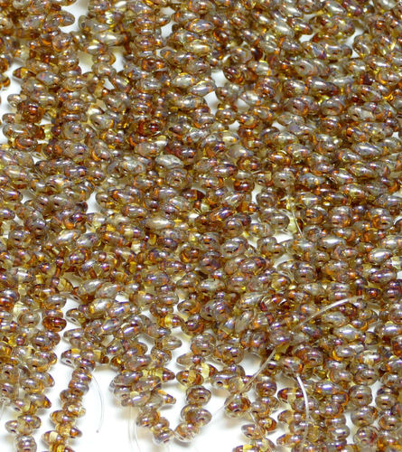 SuperDuo Beads Perlen Twin 2,5x5 mm ( 12 ) Crystal Picasso 50 Stück, 1 Strang
