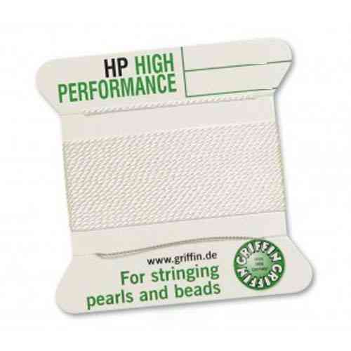 (0,78 € / M) Perl Silk High Performance white different thicknesses 2 needle á 2m