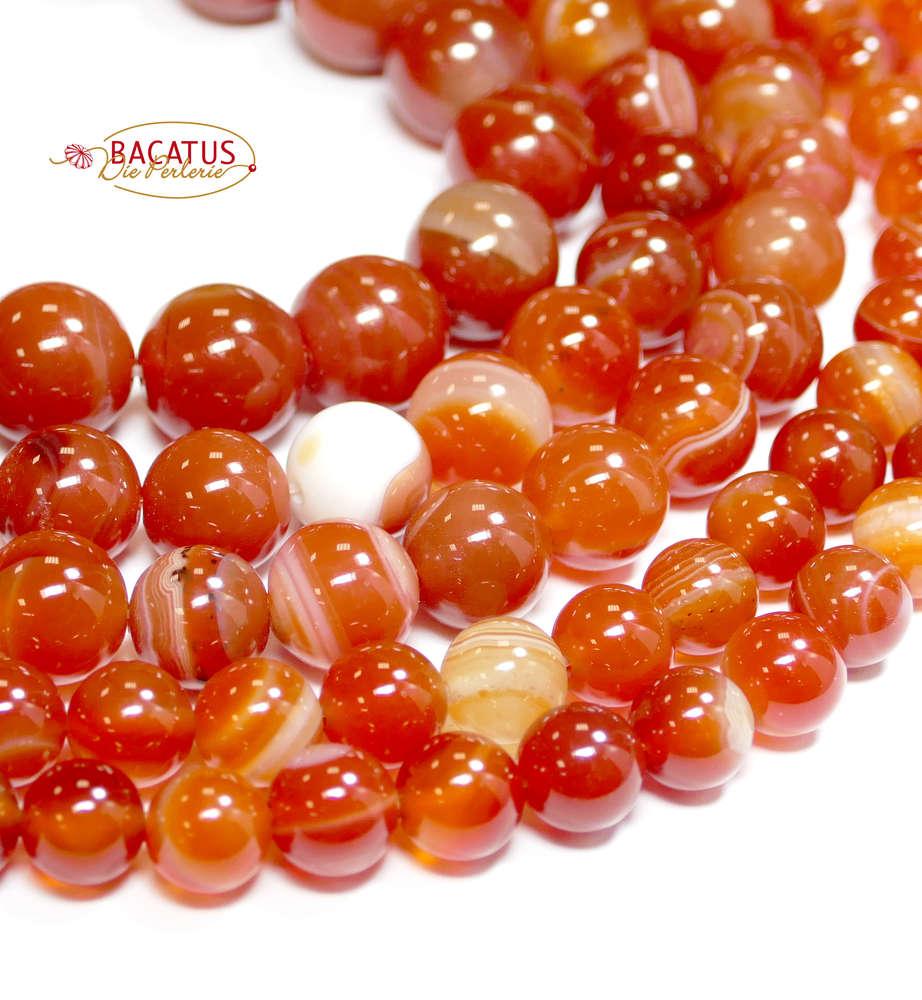 sardonyx aus brasilien 8 12 mm rot orange kugeln 1 strang ihr