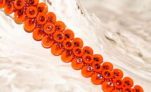"Materialset ""Bubbles and O`s Armband"" in Orange"