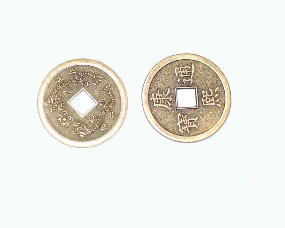 I Ging Orakel Münzen Auch Als Anhänger Messingfarben 38mm 1x