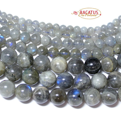 Labradorite plain rounds 12 mm, 1 Strand