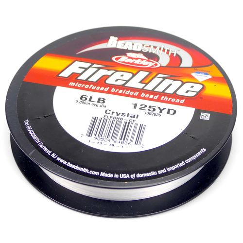 Fire Line 6LB Fädelmaterial crystal 0,12mm 114 Meter