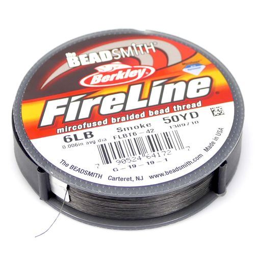 Fire Line 6LB Fädelmaterial smoke 0,12mm 45 Meter