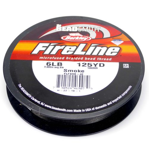 Fire Line 6LB Fädelmaterial smoke 0,12mm 114 Meter