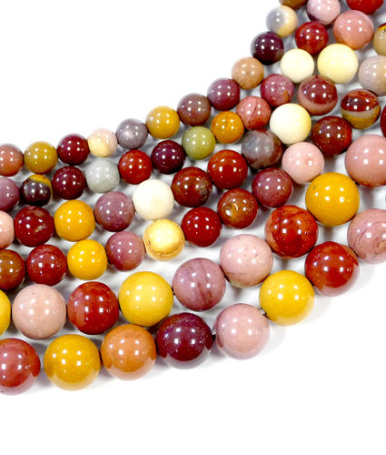 Mookite Plain Rounds 4 - 12 mm, 1 Strand