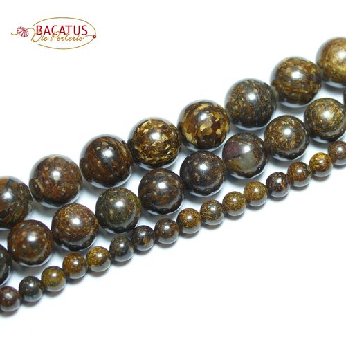 Bronzite Plain Rounds 4 - 14 mm, 1 Strand