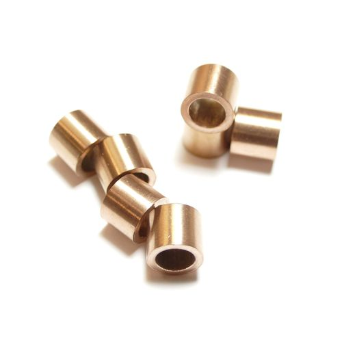 Stainless steel cylinder 10 x 9 mm copper, 1 x