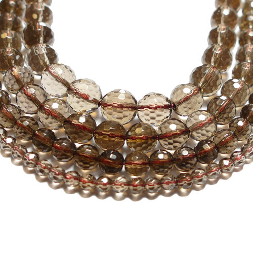 Smoky Quarz Pearl faceted 2 - 12 mm, 1 Stand