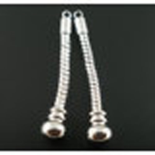 Dangle Ohrring Schlangenkette 41mm silber für European Perlen Beads 1 Paar