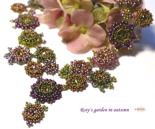 "Materialset ""Rosy`s Garden"" Collier - autumn"