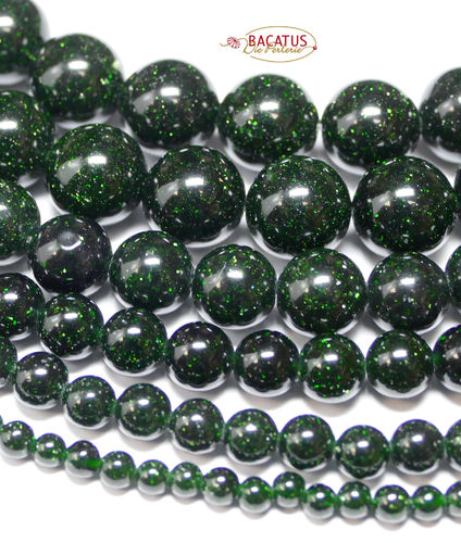 Green river round beads 2 - 12 mm, 1 Strand