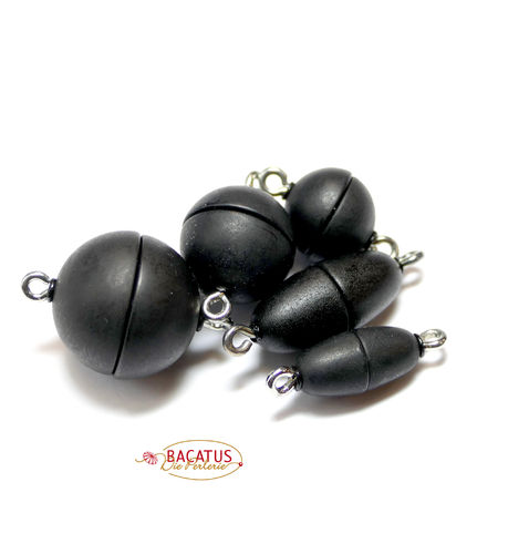 Magnetic Clasp different Size, black matte, 1 Piece
