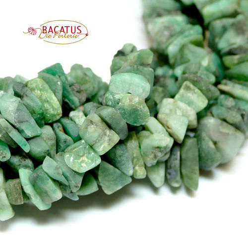 Australian Jade Rough Slice Beads 7x15 mm, 1 Strand