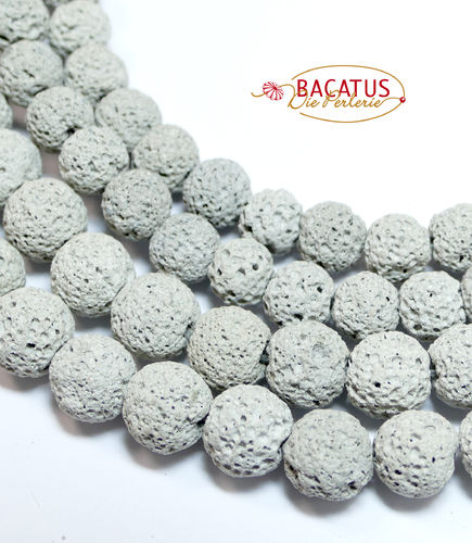 Dyed Lava Rock Round Beads 6 - 10 mm, 1 Strand