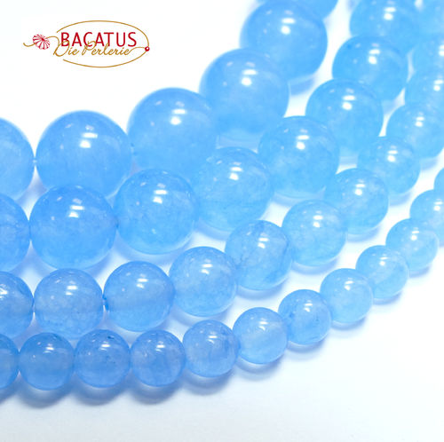 Dyed Jade Plain Rounds 8 - 10 mm , 1 Strand