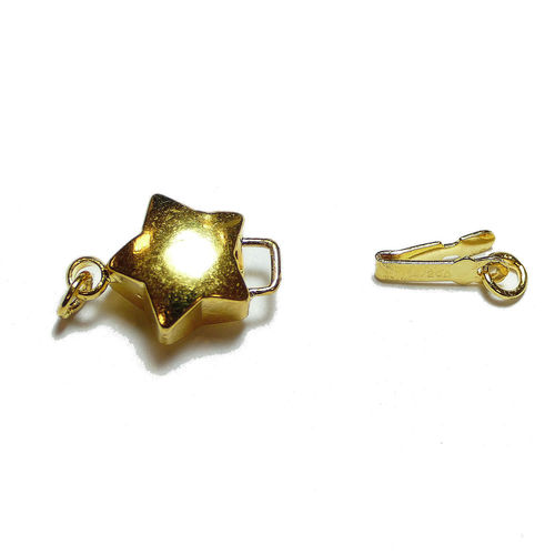 "Snap closure Clasp clasp star ""Stella"" metal 10x15mm gold"
