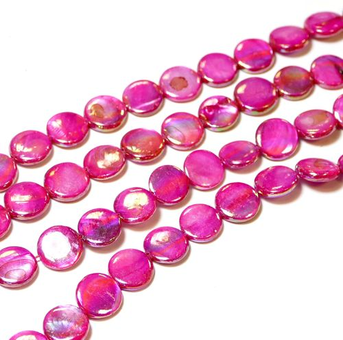 Mother of Pearl Beads 10 mm Pink, 1 Strand