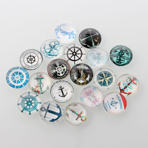 Cabochon keeper and boat sample Mix 12 mm, 10 x