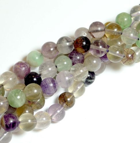 Purple Fluorite Plain Rounds 8 mm, 1 Strand