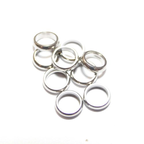 Stainless steel ring 10 mm Hole size 6 mm, 1 x