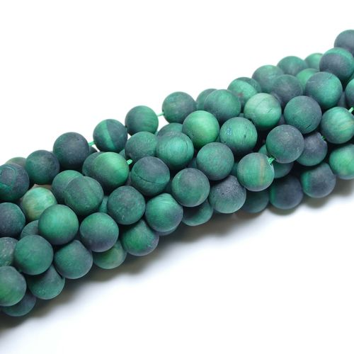 Tiger Eye green matte 6 - 10 mm, 1 Strand