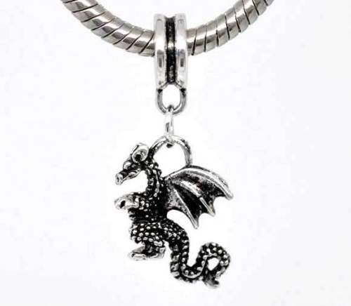 Module pendant Dragon 13 x 30 mm silver 1x