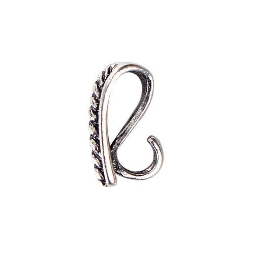 Zwischenstück Verteiler Metall keltischer Knoten 22x18x1 mm silber geschwärzt 4x