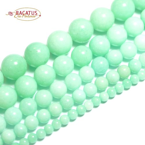 Jade plain rounds amazonite colors 4 - 12 mm, 1 Strand
