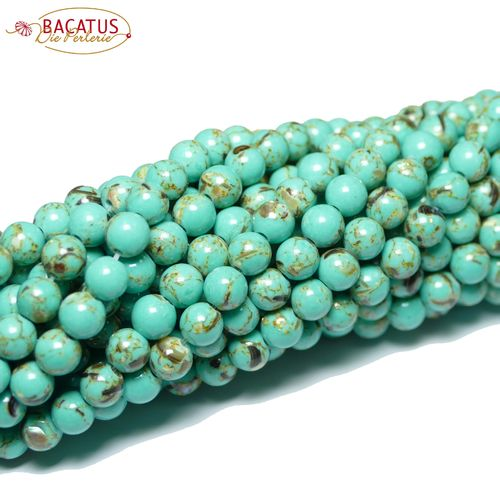Jade plain rounds turkey green 4 - 12 mm, 1 Strand