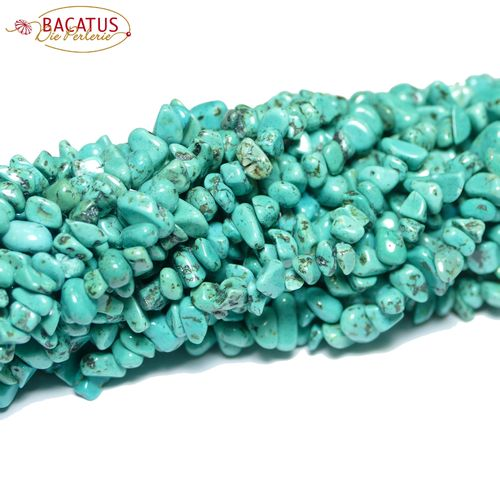 Magnesite nuggets green 5 x 8 mm, 1 Strand