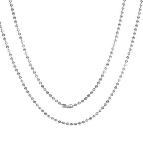 Ball chain by the meter silver 3mm 60 cm with conector (6,50 € / 1m) 1