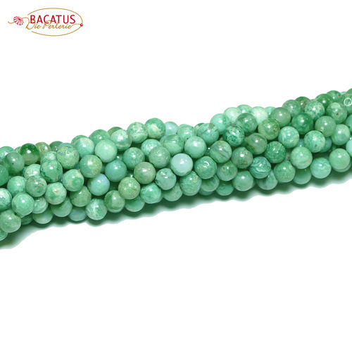 Africa Jade plain rounds green 6 mm, 1 Strad