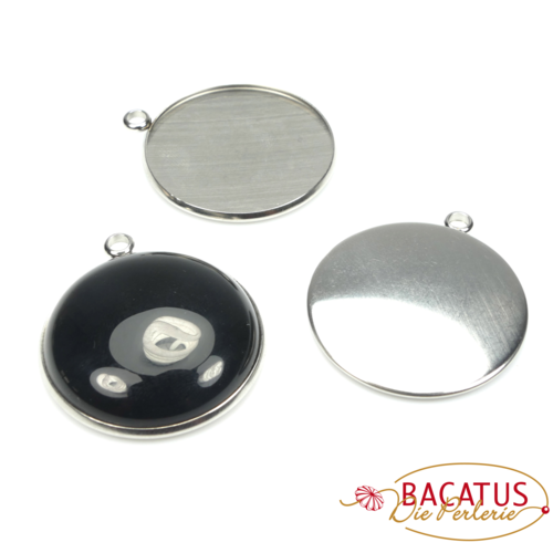 Stainlees steel cabochon version 30 mm, 1 piece