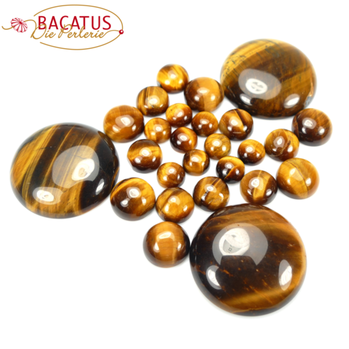 Tigerauge Cabochon gold braun 8 - 30 mm, 1 x