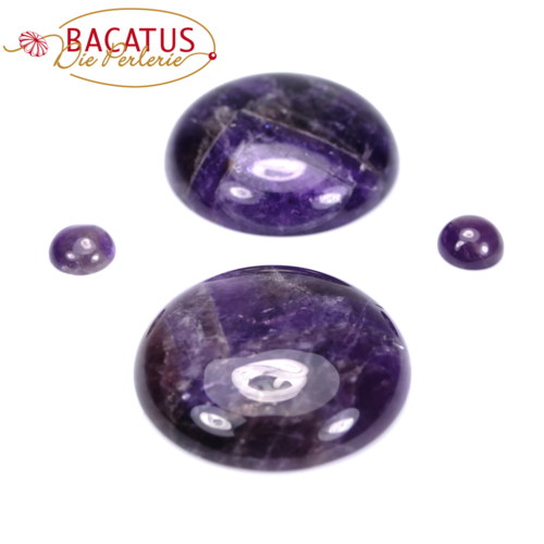 Amethyst Cabochon 8 and 30 mm, 1 piece