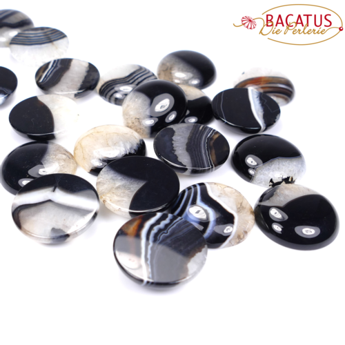 Onyx Quarz Cabochon 30 mm, 1 x