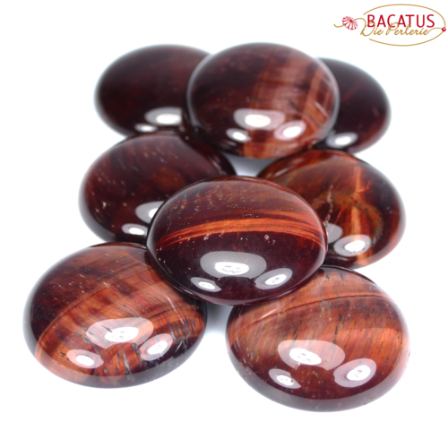 Tiger eye cabochon red 8 - 30 mm, 1 piece