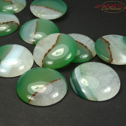 Agate with Quartz Cabochon 30 mm, 1 piece